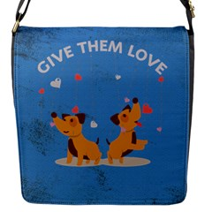 Give Them Love Flap Messenger Bag (s) by TastefulDesigns