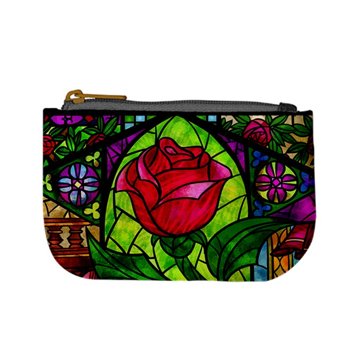 Stained Glass Rose Coin Change Purse