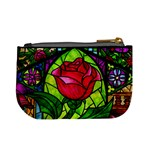 Stained Glass Rose Coin Change Purse Back