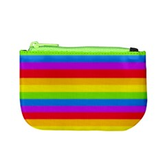More Rainbow Stripes Coin Change Purse by Ellador