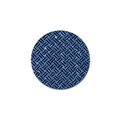 Woven2 Black Marble & Blue Marble (r) Golf Ball Marker (10 Pack) by trendistuff