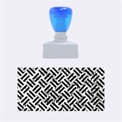 Woven2 Black Marble & Blue Marble (r) Rubber Stamp (medium) by trendistuff