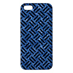 Woven2 Black Marble & Blue Marble (r) Apple Iphone 5 Premium Hardshell Case by trendistuff