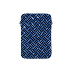Woven2 Black Marble & Blue Marble (r) Apple Ipad Mini Protective Soft Case by trendistuff