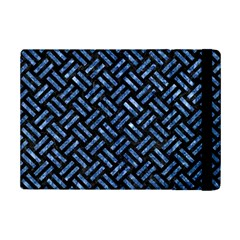 Woven2 Black Marble & Blue Marble Apple Ipad Mini 2 Flip Case by trendistuff