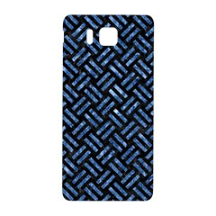 Woven2 Black Marble & Blue Marble Samsung Galaxy Alpha Hardshell Back Case by trendistuff