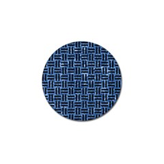 Woven1 Black Marble & Blue Marble (r) Golf Ball Marker (4 Pack) by trendistuff
