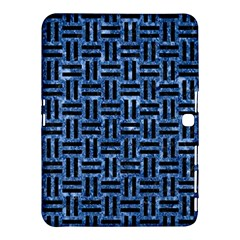 Woven1 Black Marble & Blue Marble (r) Samsung Galaxy Tab 4 (10 1 ) Hardshell Case  by trendistuff