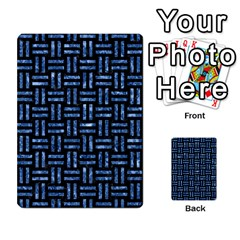 Woven1 Black Marble & Blue Marble Multi Purpose Cards (rectangle) by trendistuff