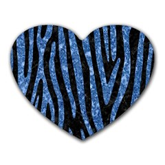 Skin4 Black Marble & Blue Marble (r) Heart Mousepad