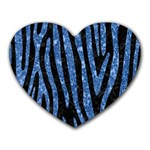 SKIN4 BLACK MARBLE & BLUE MARBLE (R) Heart Mousepad Front
