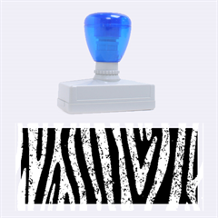 Skin4 Black Marble & Blue Marble (r) Rubber Stamp (large) by trendistuff