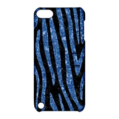Skin4 Black Marble & Blue Marble (r) Apple Ipod Touch 5 Hardshell Case With Stand