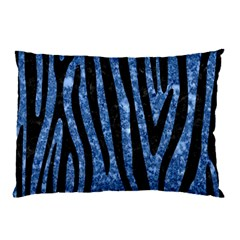 Skin4 Black Marble & Blue Marble Pillow Case (two Sides) by trendistuff