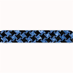 Houndstooth2 Black Marble & Blue Marble Small Bar Mat by trendistuff