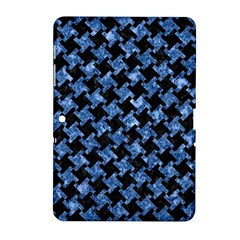 Houndstooth2 Black Marble & Blue Marble Samsung Galaxy Tab 2 (10 1 ) P5100 Hardshell Case  by trendistuff