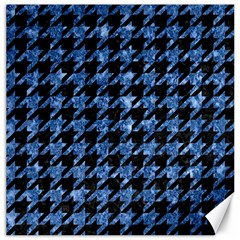 Houndstooth1 Black Marble & Blue Marble Canvas 20  X 20  by trendistuff