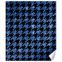 Houndstooth1 Black Marble & Blue Marble Canvas 20  X 24  by trendistuff