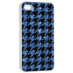 Houndstooth1 Black Marble & Blue Marble Apple Iphone 4/4s Seamless Case (white) by trendistuff