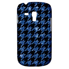 Houndstooth1 Black Marble & Blue Marble Samsung Galaxy S3 Mini I8190 Hardshell Case by trendistuff