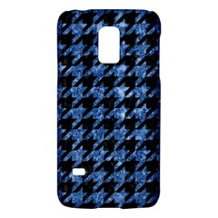 Houndstooth1 Black Marble & Blue Marble Samsung Galaxy S5 Mini Hardshell Case  by trendistuff