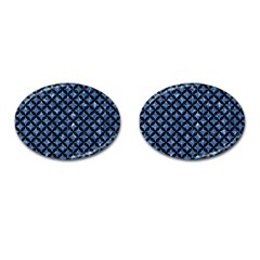 Circles3 Black Marble & Blue Marble (r) Cufflinks (oval) by trendistuff