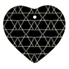 Star Of David   Heart Ornament (2 Sides) by SugaPlumsEmporium