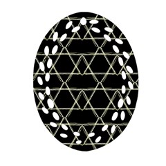 Star Of David   Oval Filigree Ornament (2 Side)  by SugaPlumsEmporium