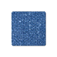 Brick1 Black Marble & Blue Marble (r) Magnet (square) by trendistuff