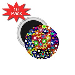 Star Of David 1 75  Magnets (10 Pack)  by SugaPlumsEmporium