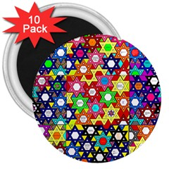 Star Of David 3  Magnets (10 Pack)  by SugaPlumsEmporium