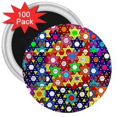 Star Of David 3  Magnets (100 Pack) by SugaPlumsEmporium