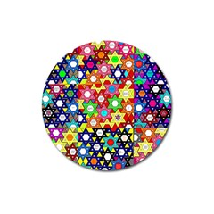 Star Of David Magnet 3  (round) by SugaPlumsEmporium