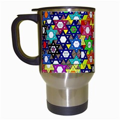 Star Of David Travel Mugs (white) by SugaPlumsEmporium