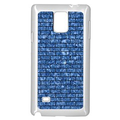 Brick1 Black Marble & Blue Marble (r) Samsung Galaxy Note 4 Case (white) by trendistuff