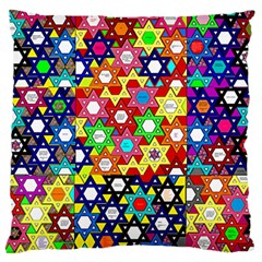 Star Of David Large Cushion Case (two Sides)