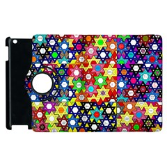 Star Of David Apple Ipad 2 Flip 360 Case by SugaPlumsEmporium