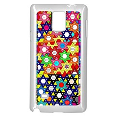 Star Of David Samsung Galaxy Note 4 Case (white) by SugaPlumsEmporium