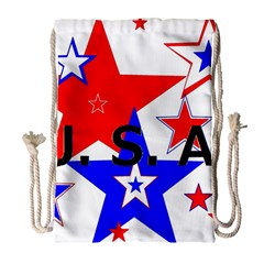 The Patriot Usa Drawstring Bag (large) by SugaPlumsEmporium