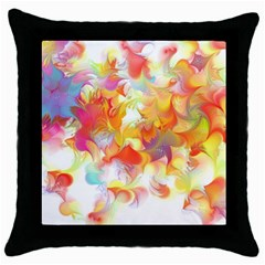 Hawaiian Flair Throw Pillow Case (black) by SugaPlumsEmporium