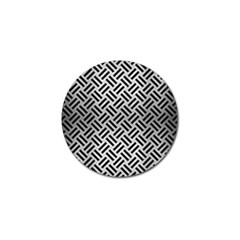 Woven2 Black Marble & Silver Brushed Metal (r) Golf Ball Marker (4 Pack) by trendistuff