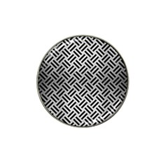 Woven2 Black Marble & Silver Brushed Metal (r) Hat Clip Ball Marker (4 Pack) by trendistuff
