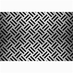 Woven2 Black Marble & Silver Brushed Metal (r) Collage 12  X 18  by trendistuff
