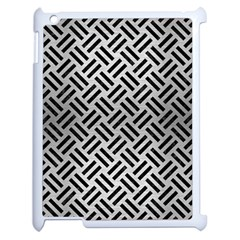Woven2 Black Marble & Silver Brushed Metal (r) Apple Ipad 2 Case (white) by trendistuff
