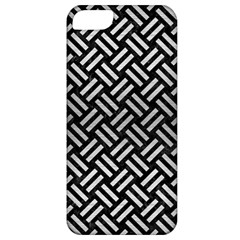 Woven2 Black Marble & Silver Brushed Metal Apple Iphone 5 Classic Hardshell Case by trendistuff