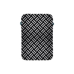 Woven2 Black Marble & Silver Brushed Metal Apple Ipad Mini Protective Soft Case by trendistuff