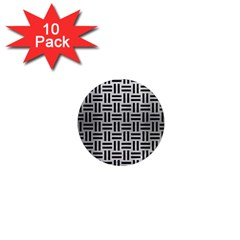 Woven1 Black Marble & Silver Brushed Metal (r) 1  Mini Magnet (10 Pack)  by trendistuff