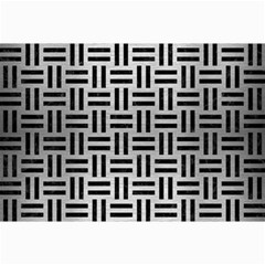 Woven1 Black Marble & Silver Brushed Metal (r) Collage 12  X 18  by trendistuff