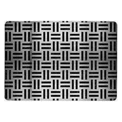 Woven1 Black Marble & Silver Brushed Metal (r) Samsung Galaxy Tab 10 1  P7500 Flip Case by trendistuff