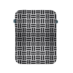 Woven1 Black Marble & Silver Brushed Metal (r) Apple Ipad 2/3/4 Protective Soft Case